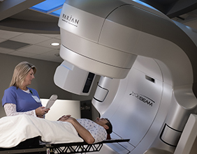 Cancer Patient in TrueBeam Machine